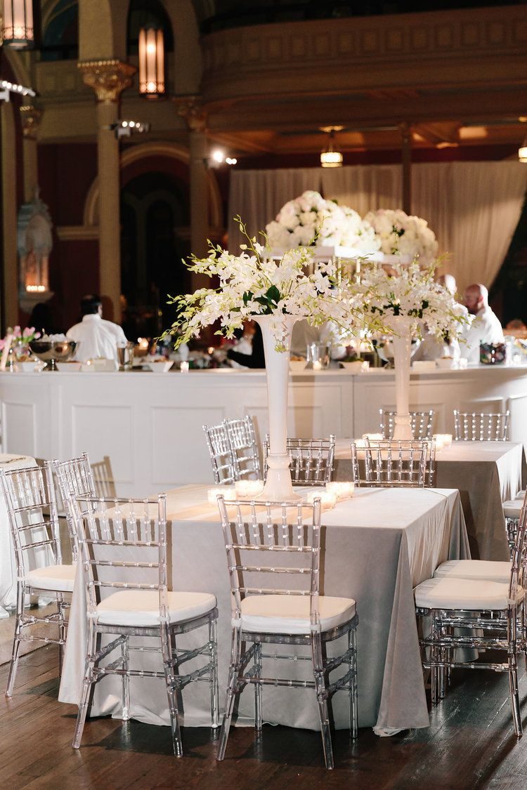 Clear Chiavari Chairs Green Chair Full Movie Online For Wedding Reception Grey Velvet Linens White Orchids Event Design Coordination By Greg Boulus Events Based Out Of Augusta Ga