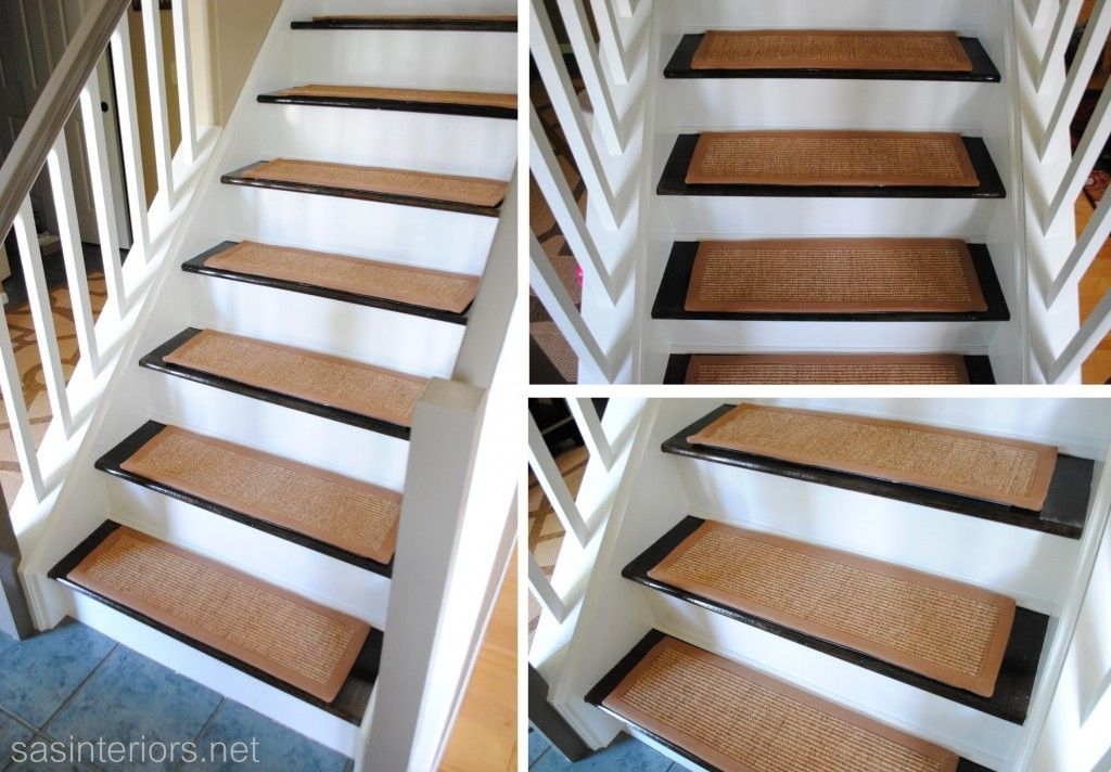 Staircase Makeover Carpet Treads They Have Velcro Pieces