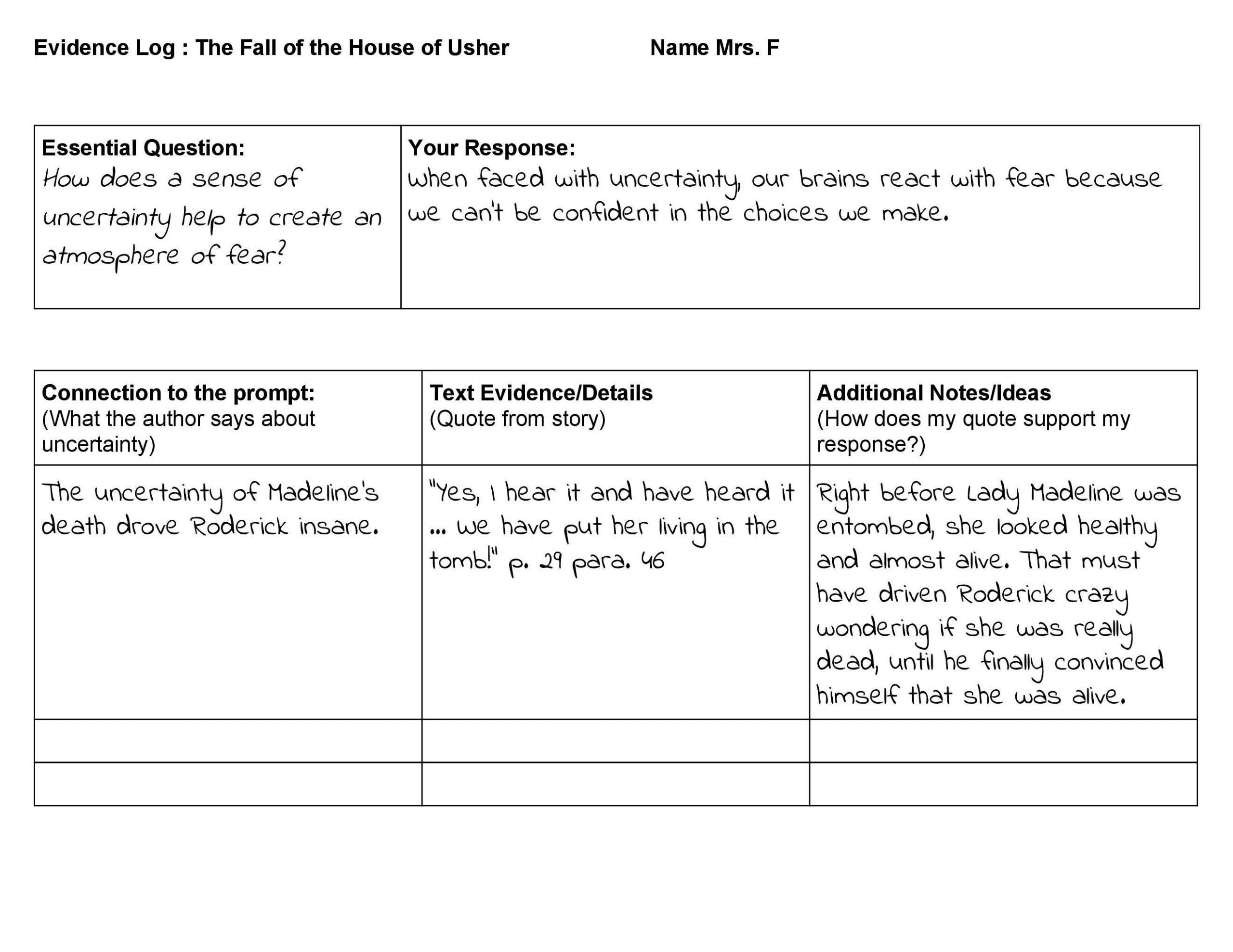 Annotation Worksheet Middle School Bs High School In