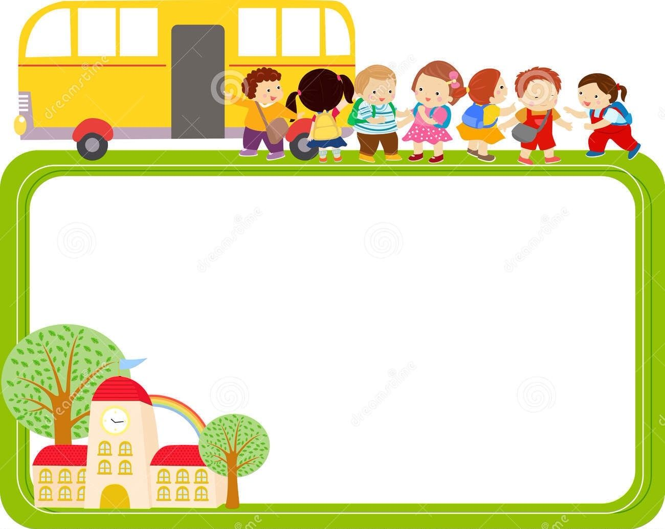 dreamstime | Bordure de page | Pinterest | School buses, School and ...