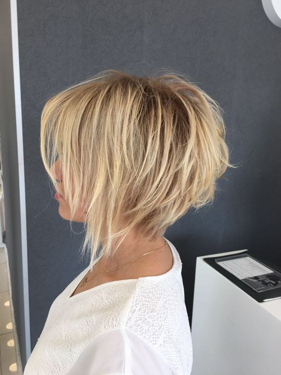 32+ Cute Inverted Bob Haircuts and Hairstyles Ideas , Shaggy