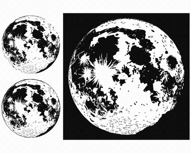The Moon SVG, Solar System SVG, SVG, Moon Svg
