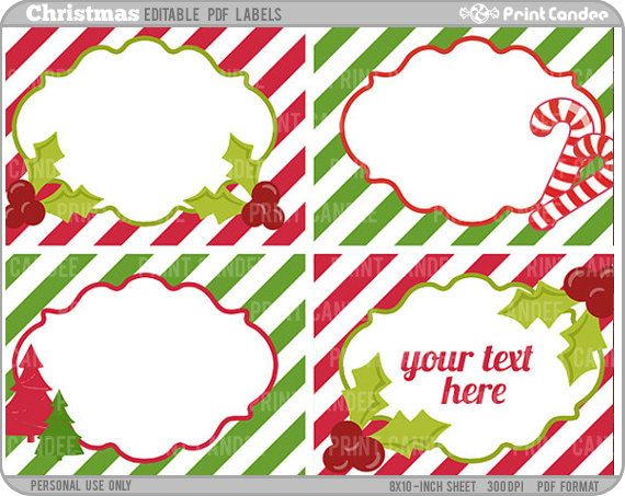 Editable Christmas Labels.Free Printable Editable Christmas Tags Grade 1 B