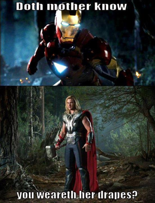 Doth Mother Know You Weareth Her Drapes Marvel Avengers Shakespeare In The Park