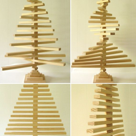 Large Wooden Christmas Tree Multi Syle Tree By Feltballgarlands