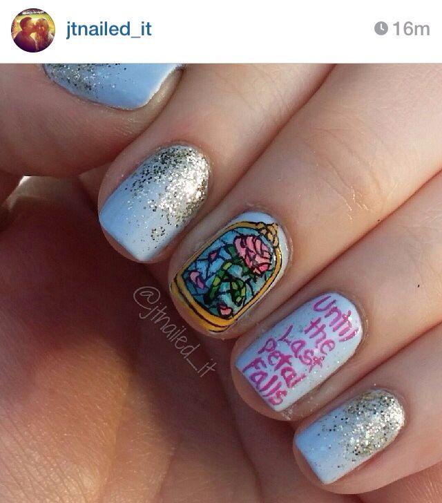 Beauty And The Beast Nails Nails Pinterest Beast Disney Nails