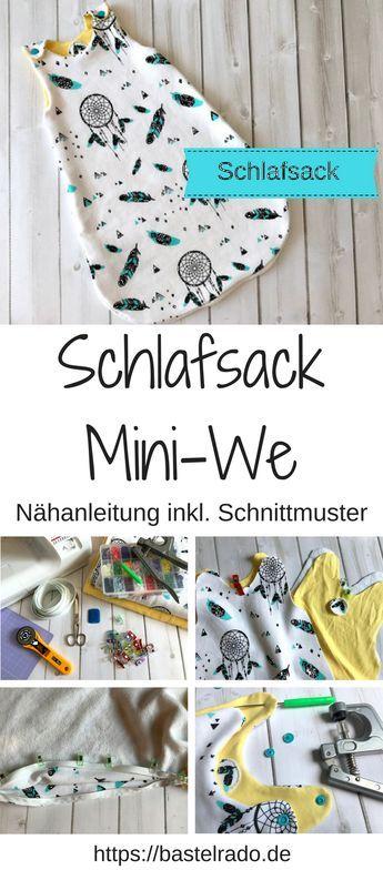 Photo of Mini-We Schlafsack – Nähanleitung inklusive Schnittmuster »BASTELRADO