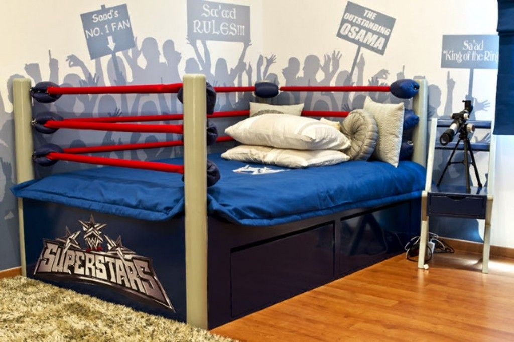 Wrestling Bedroom Decor Amusing Wrestling Bed  Kids Designs  Pinterest  Kids Rooms And Room Inspiration Design