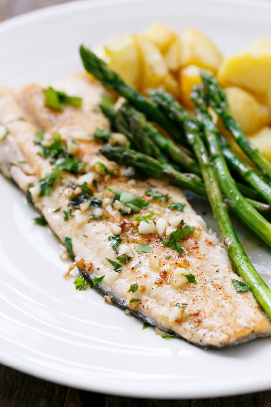Pan Fried Trout With Garlic Lemon