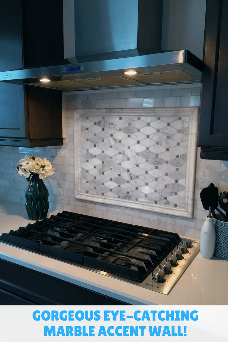 Creating An Eye Catching Focal Piece For Your Kitchen Diy Backsplash Accent Wall Tile Accent Wall Kitchen Accent Tile Kitchen Diy Tile Backsplash