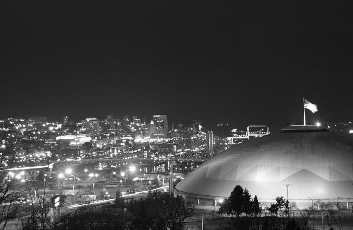 Tacoma, Washington night lights.