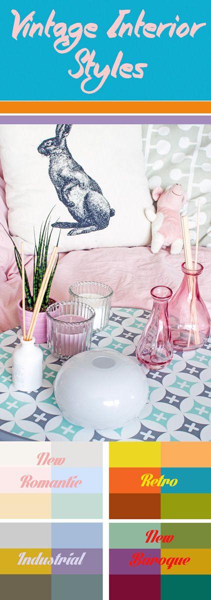 Die Besten Vintage Interior Styles Und Deco Inspirations Von Romantisch  über Cool Und Poppig Bis Hinzu üppigem Barock. Retro Vom Feinsten, 4 Deco  Styles, ...