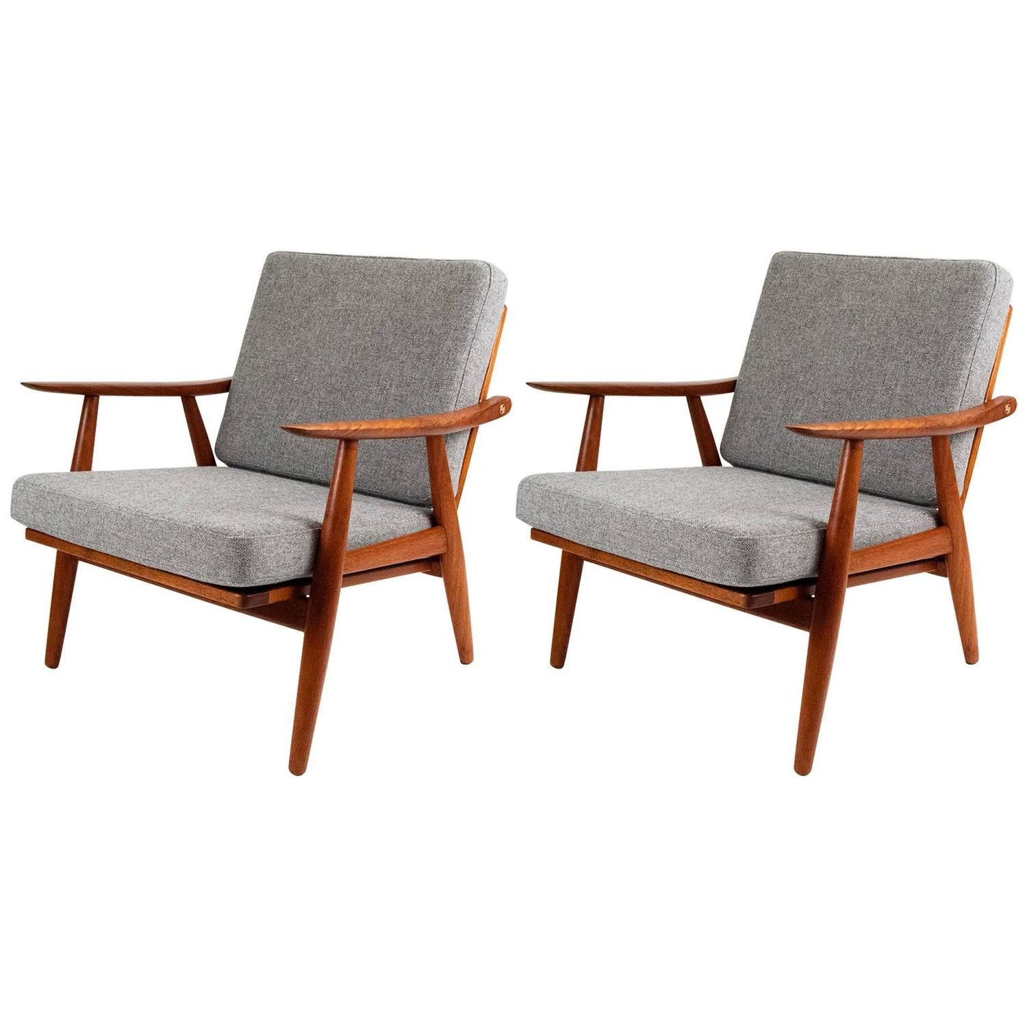 Hans Wegner GE 270 Danish Teak Lounge Chairs | From A Unique Collection Of  Antique And Modern Lounge Chairs At ...
