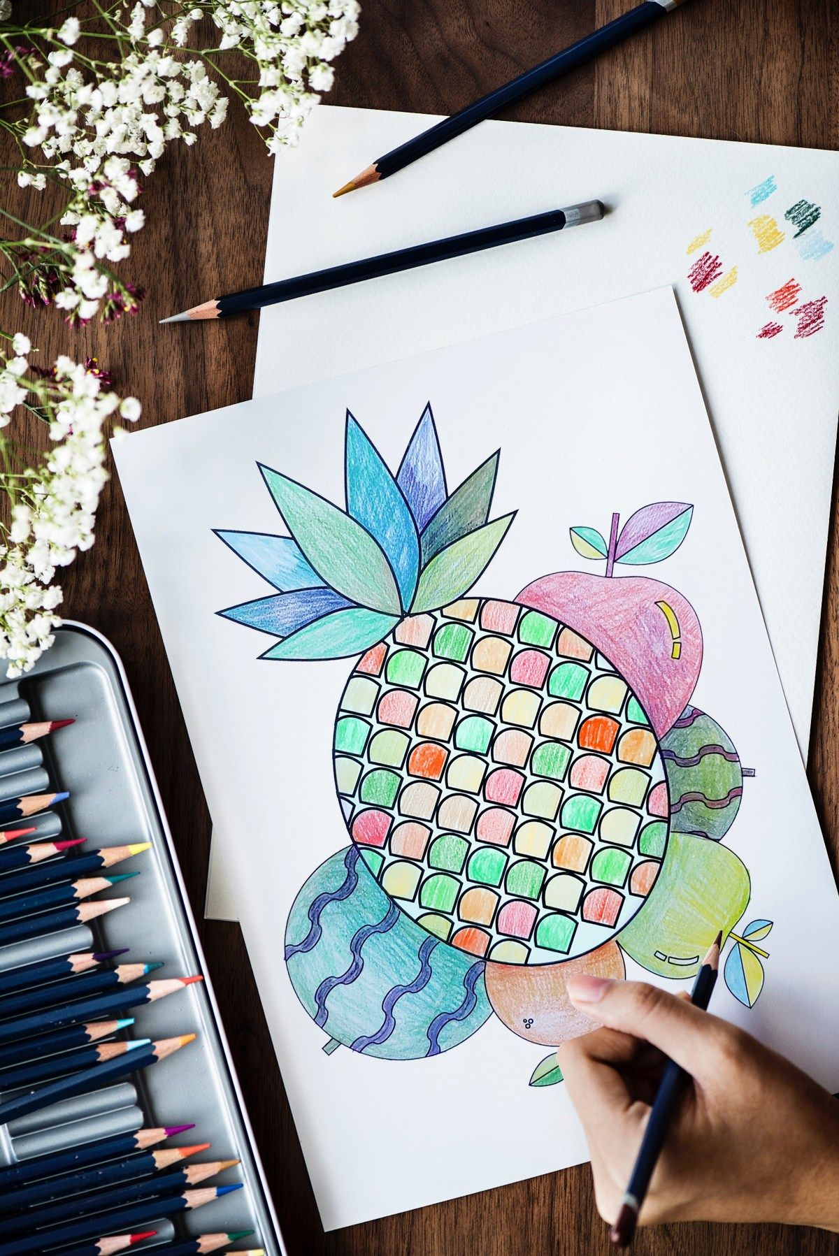 Fruit Slices Free Printable Coloring Pages | One Colorful Day ...