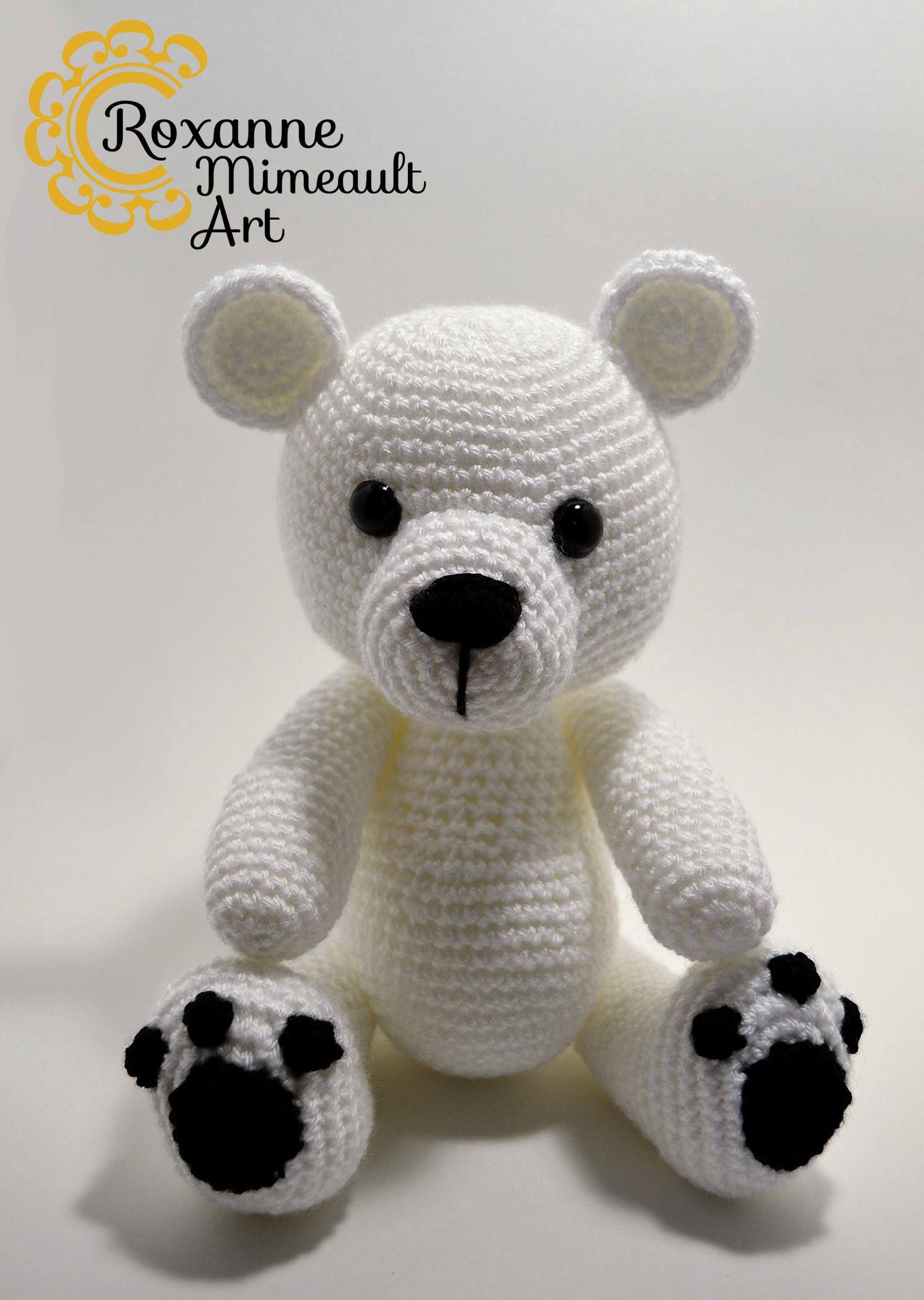 Polar Bear crochet amigurumi high quality toy | Patrones amigurumi y ...