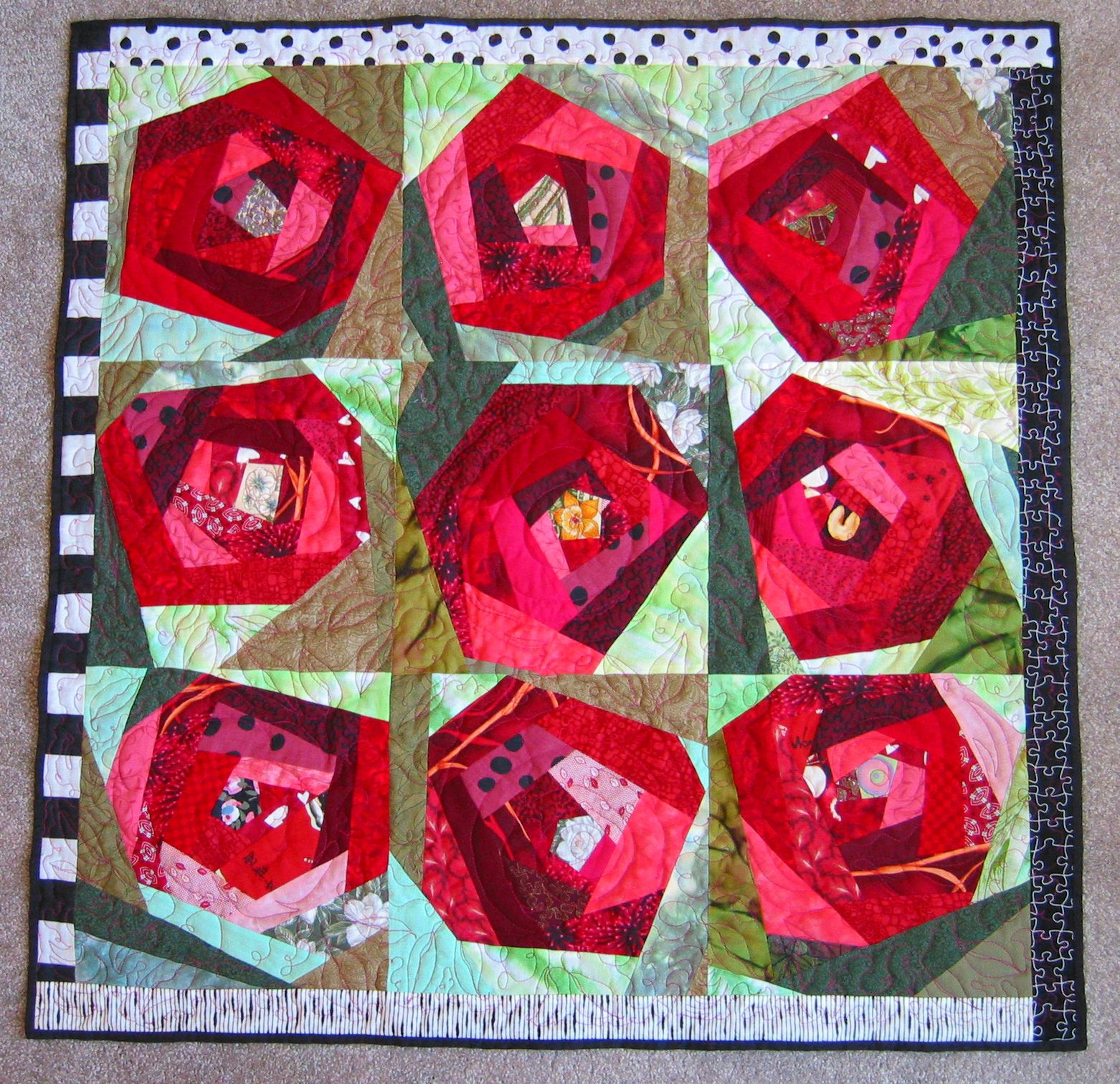 Fractured Rose Quilt Pictures Of My Work Quilts