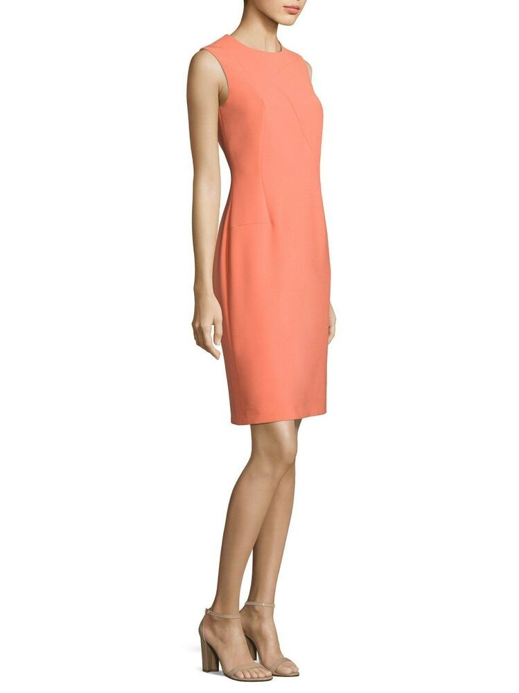 3386a4d0 NEW BOSS Demisana Sheath Dress in Orangesicle - Size 4 #fashion #clothing  #shoes