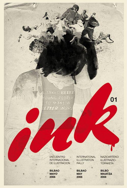 poster ink graphic design web design creative digital art