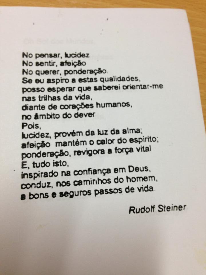 Poema De Rudolf Steiner Com Imagens Palavras Positivas