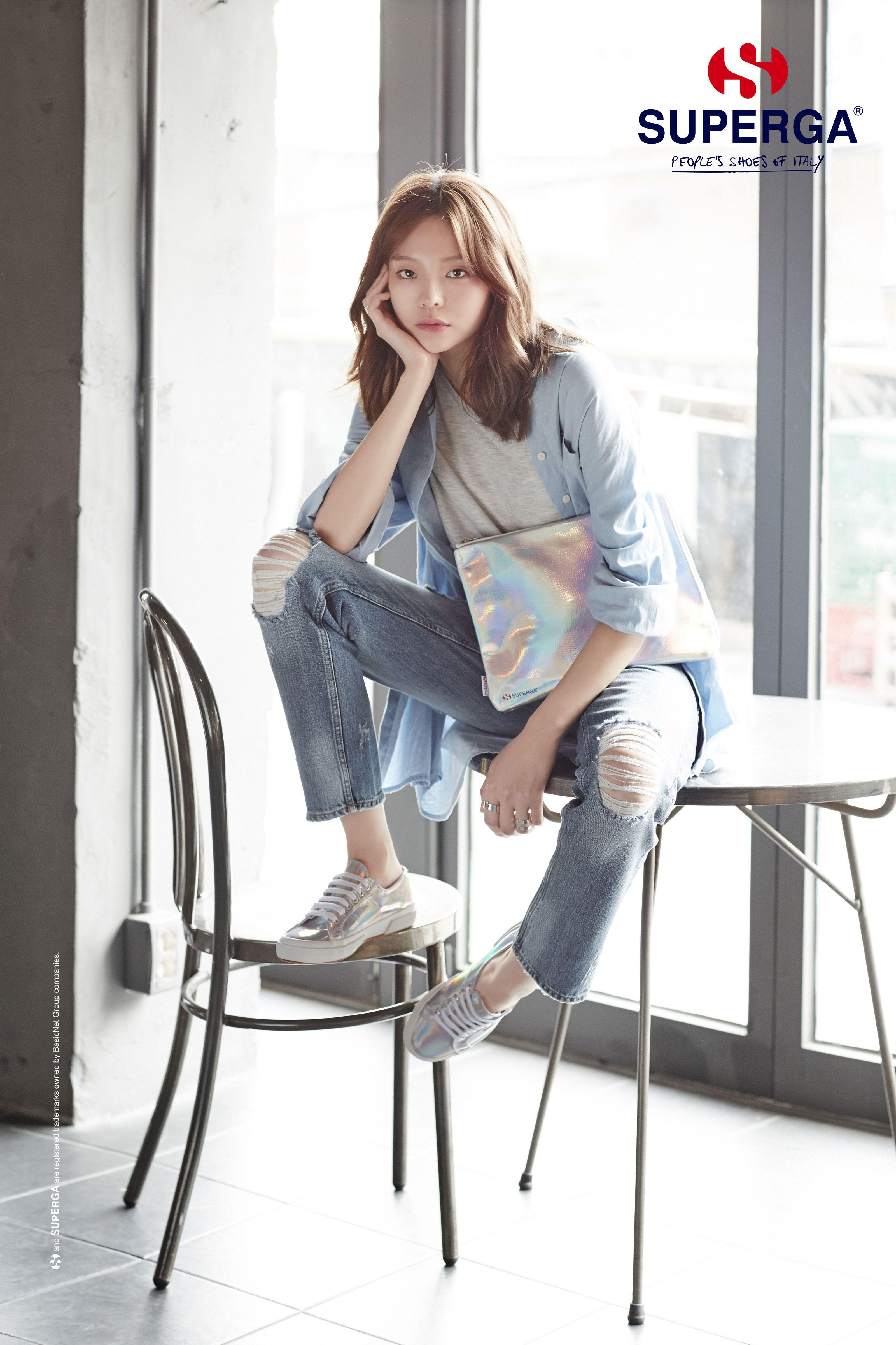 Gugudan's Mina for Shoes Brand 'SUPERGA' 2019 S/S ...