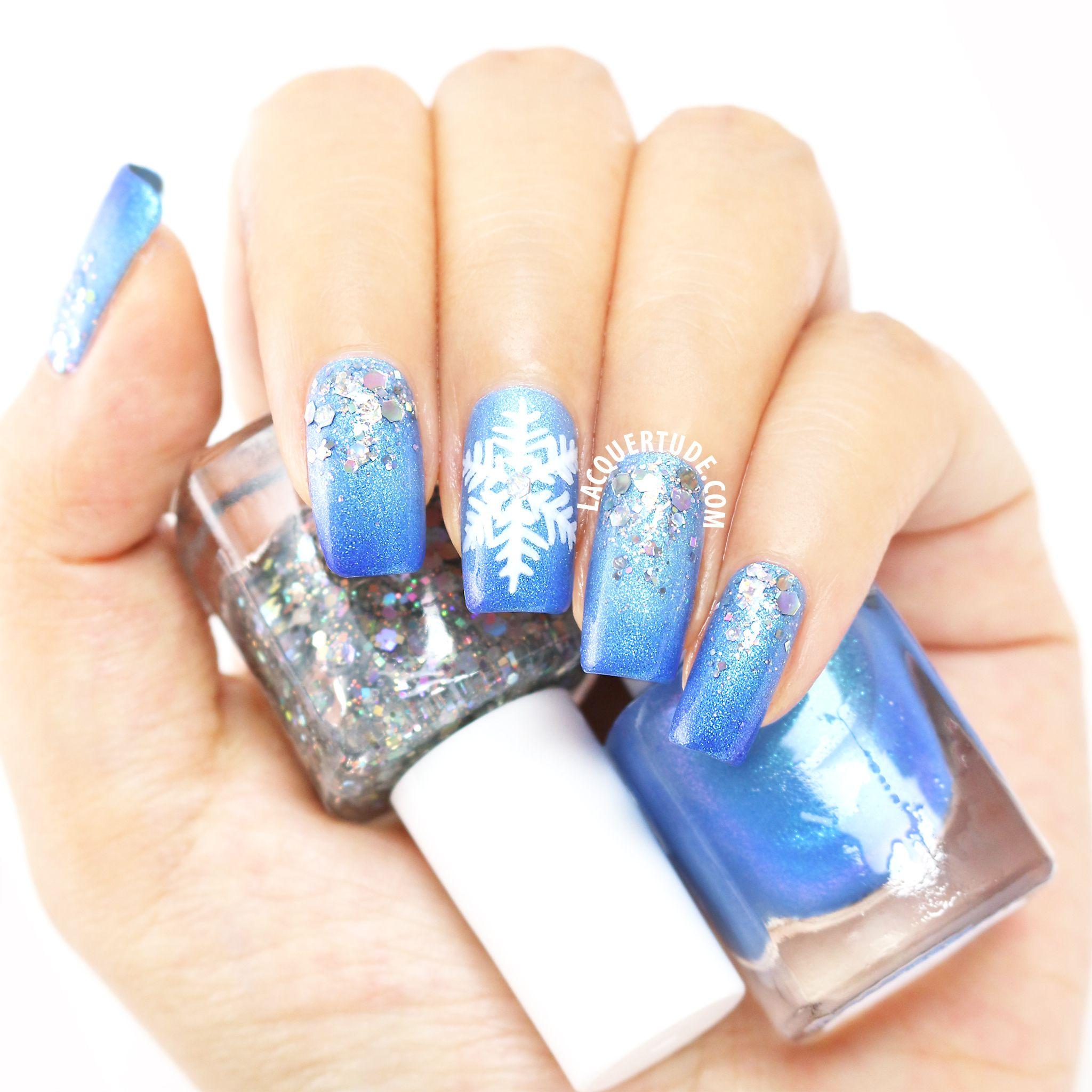 Lacquertudefun Winterwonderland Nail Art At Your Fingertips