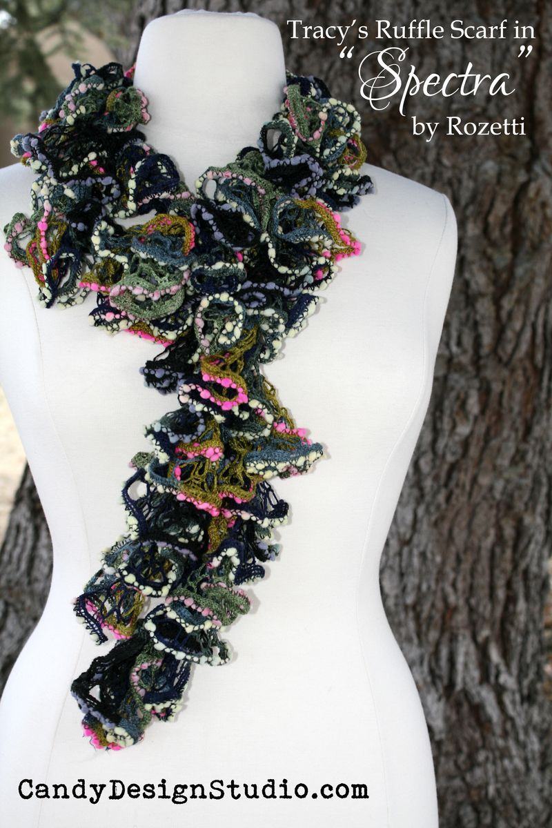 Easy Crochet Ruffle Scarf Tutorial with Pictures | Chal, Tejido y ...
