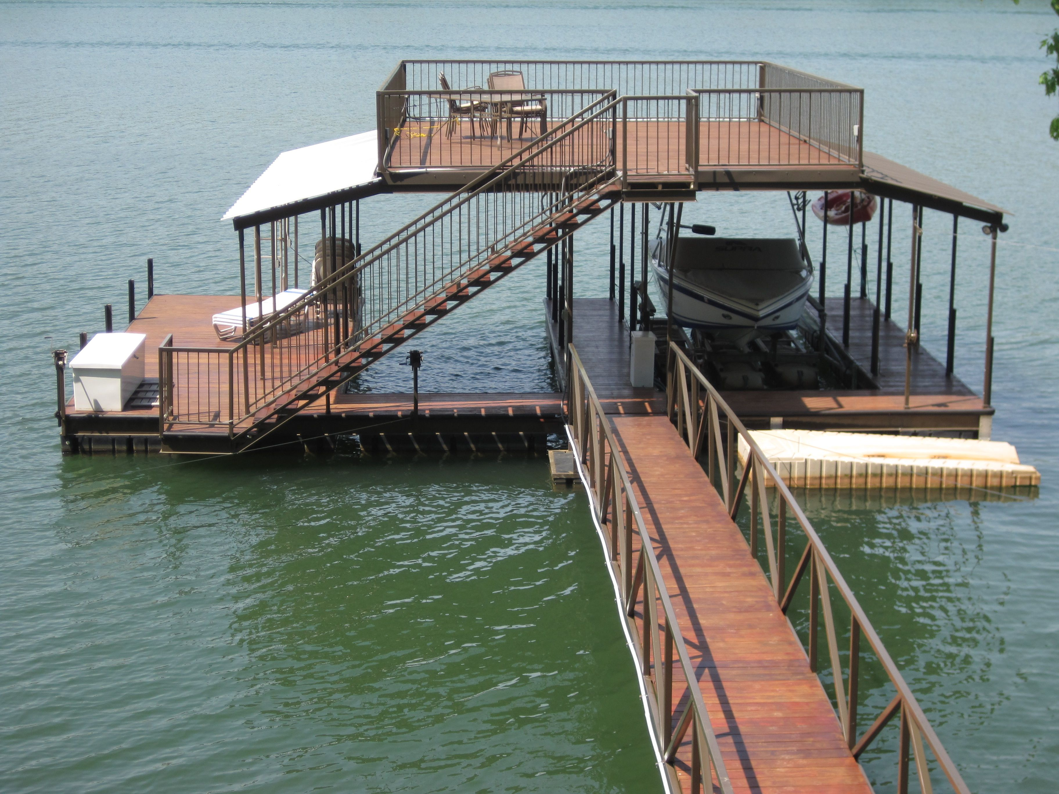 Double Slip Boat Docks | Boat Dock Works | Lake cottage, Lake dock ...