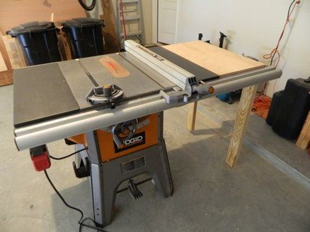 Table saw extension table for ridgid table saw wood joinery table saw extension table for ridgid table saw greentooth Choice Image