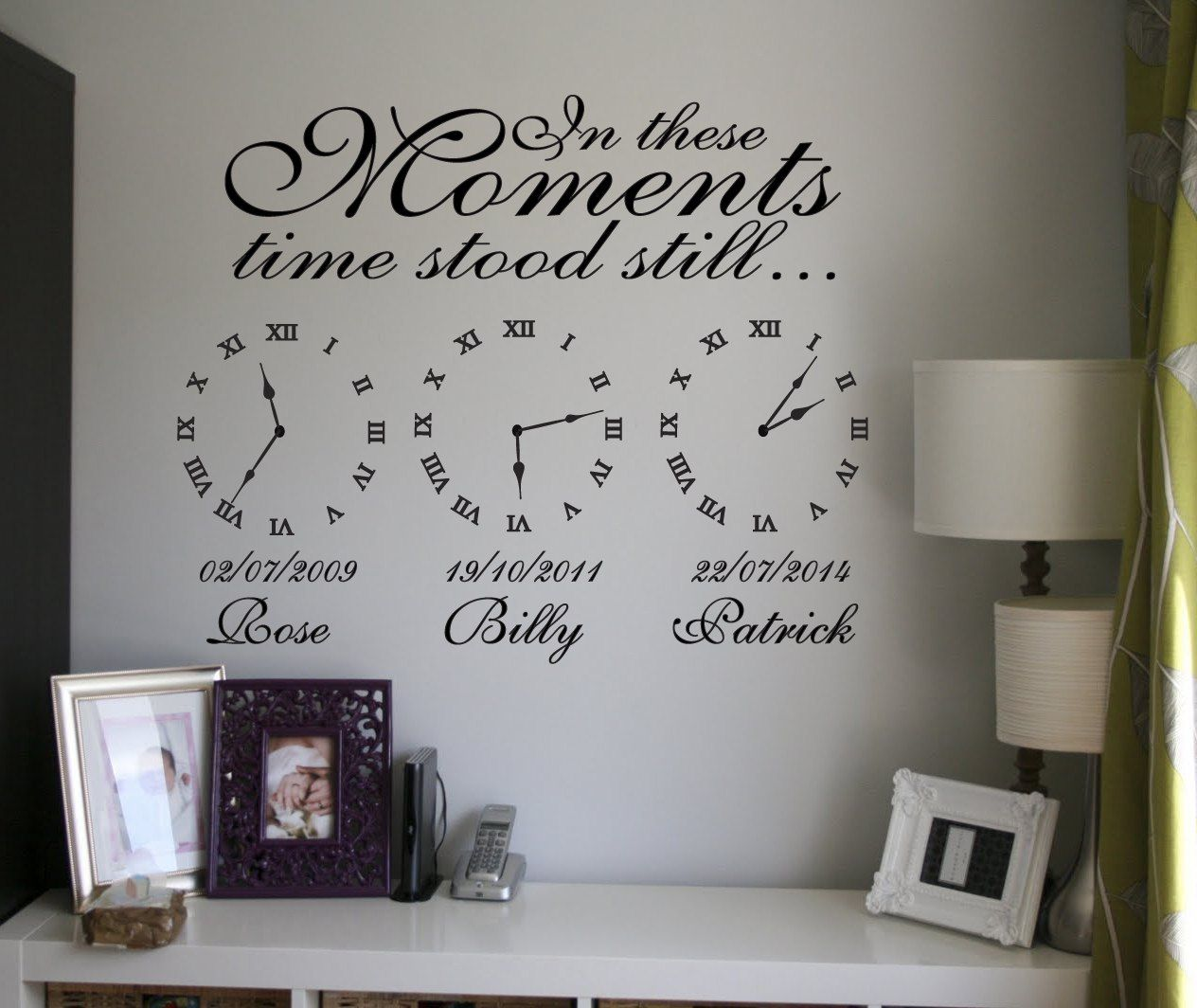 Time Stood Still Memory Clocks Date Of Birth Memory Clocks Time Stood Still Memory Wall Family Wall Decals