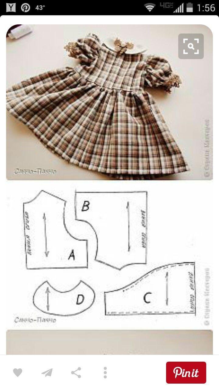 выкройка платья на куклу 47 см: 6 тыс изображений найдено ...