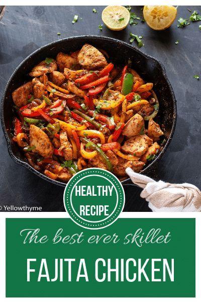 Healthy Fajita Chicken with Bell Peppers #bellpeppers
