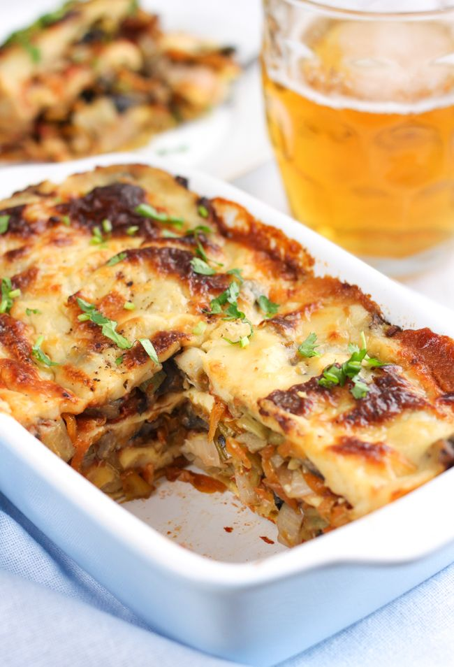 Beery Welsh rarebit lasagne – Easy Cheesy Vegetarian