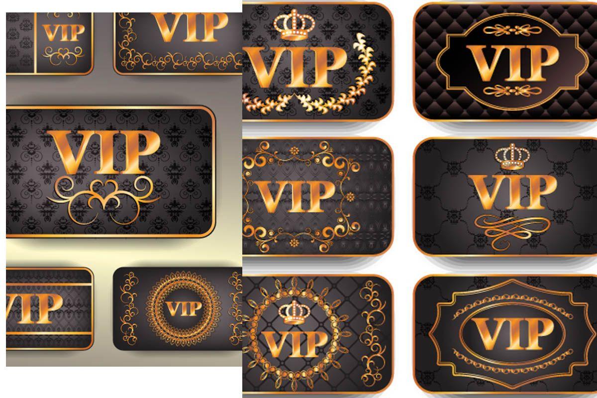 Gold Vip Cards Vector Vip Card Visa Gift Card Cards