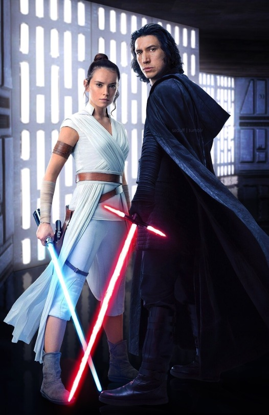 2 2 Seduff Kylo Ren Ben Solo And Rey In The Rise Of Skywalker Your Destiny Fate Star Wars Poster Star Wars Art Ren Star Wars