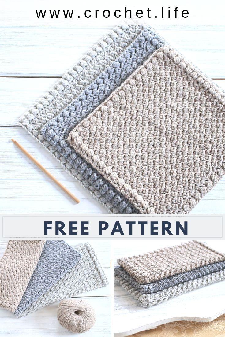 Easy Creek Pebbles Crochet Dishcloth Pattern