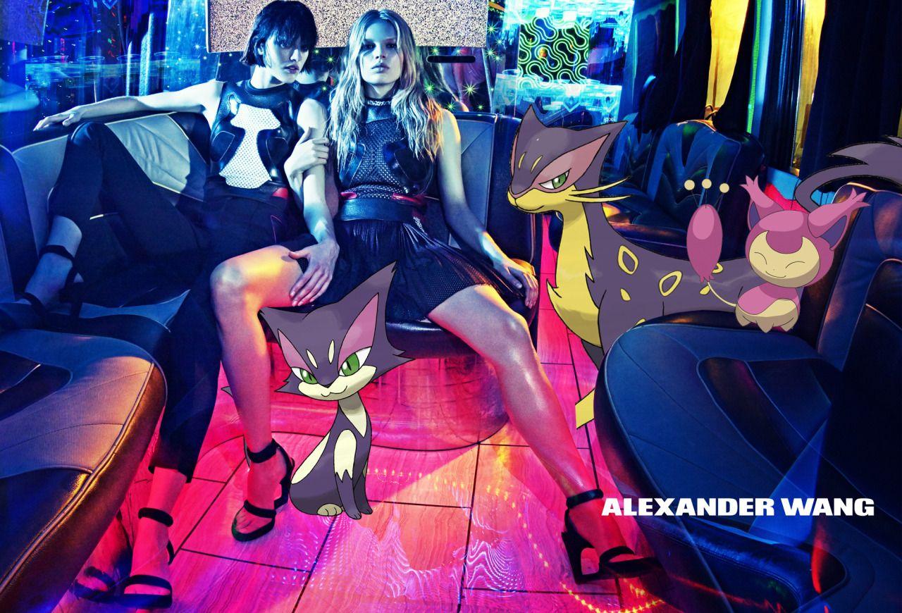 Campanha Alexander Wang pelo Tumblr Pokemon&Fashion