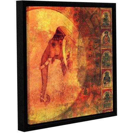 14 x 14 ArtWall Elana Rays Buddhist Elephant Appealz Removable Graphic Wall Art Multicolor