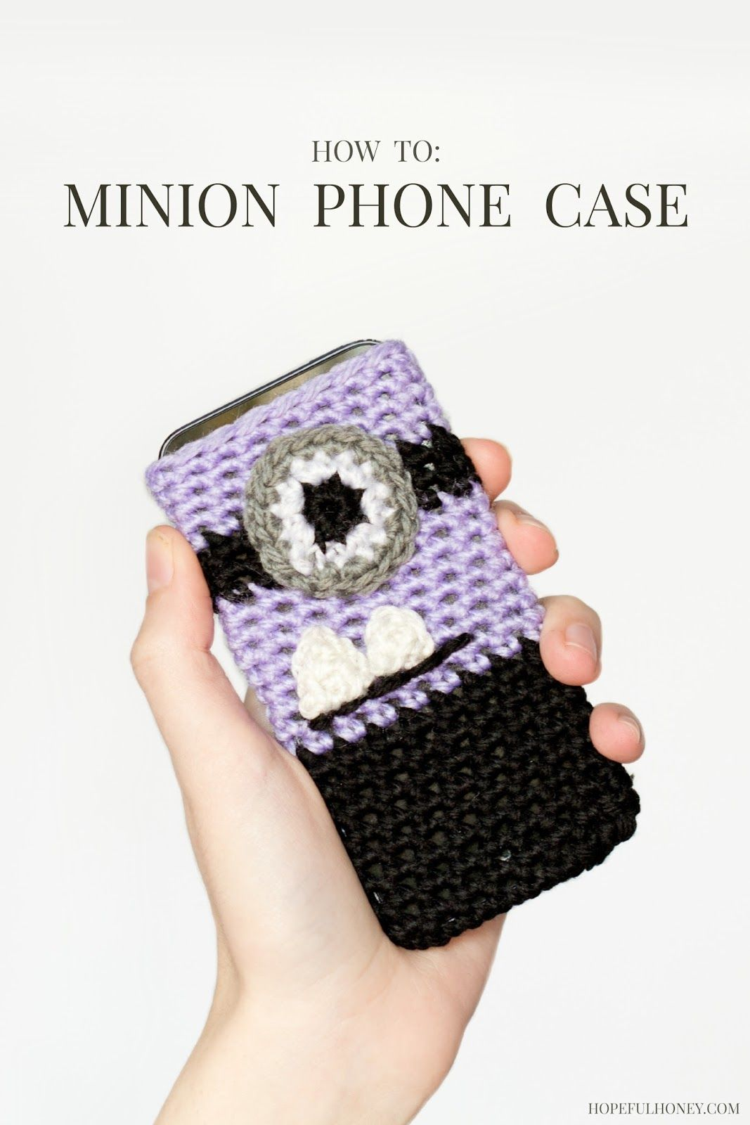 Evil Minion Inspired Phone Case Crochet Pattern | Teléfono ...