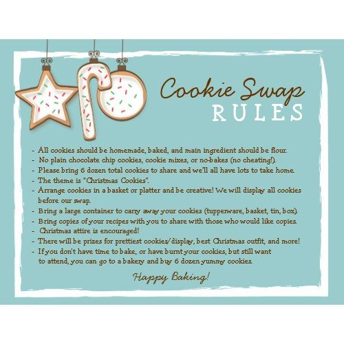 Best Invitation Ideas Cookie Exchange Ideas And Invitations