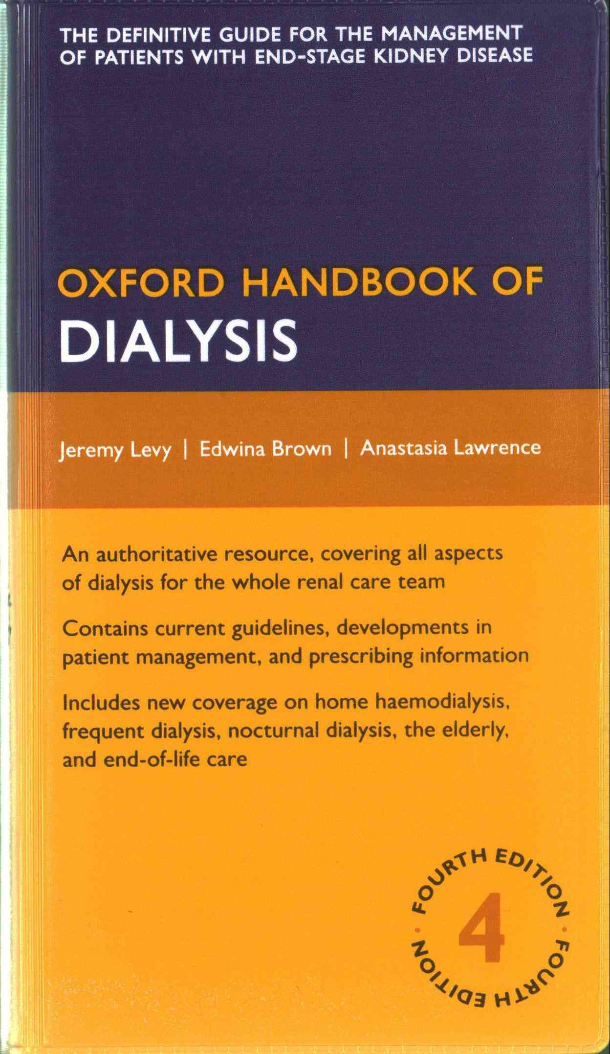 Oxford Handbook Of Dialysis Paperback Overstock Com Shopping The Best Deals On Medical Dialysis Nursing Education Oxford