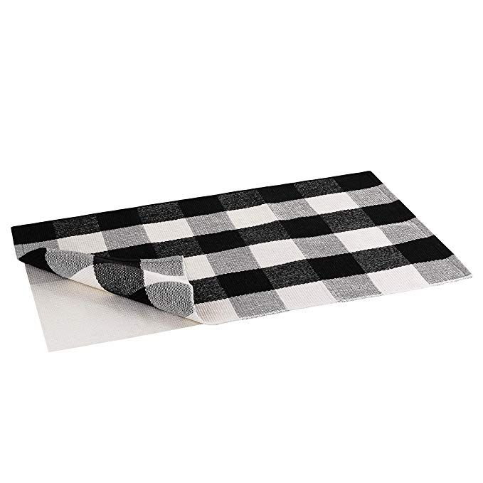 Buffalo Plaid Rug Buffalo Check Outdoor Rug Black And White Checkered Outdoor Rug Front Door Mat Porch Kitchen Layered Rugs Plaid Rug Rugs