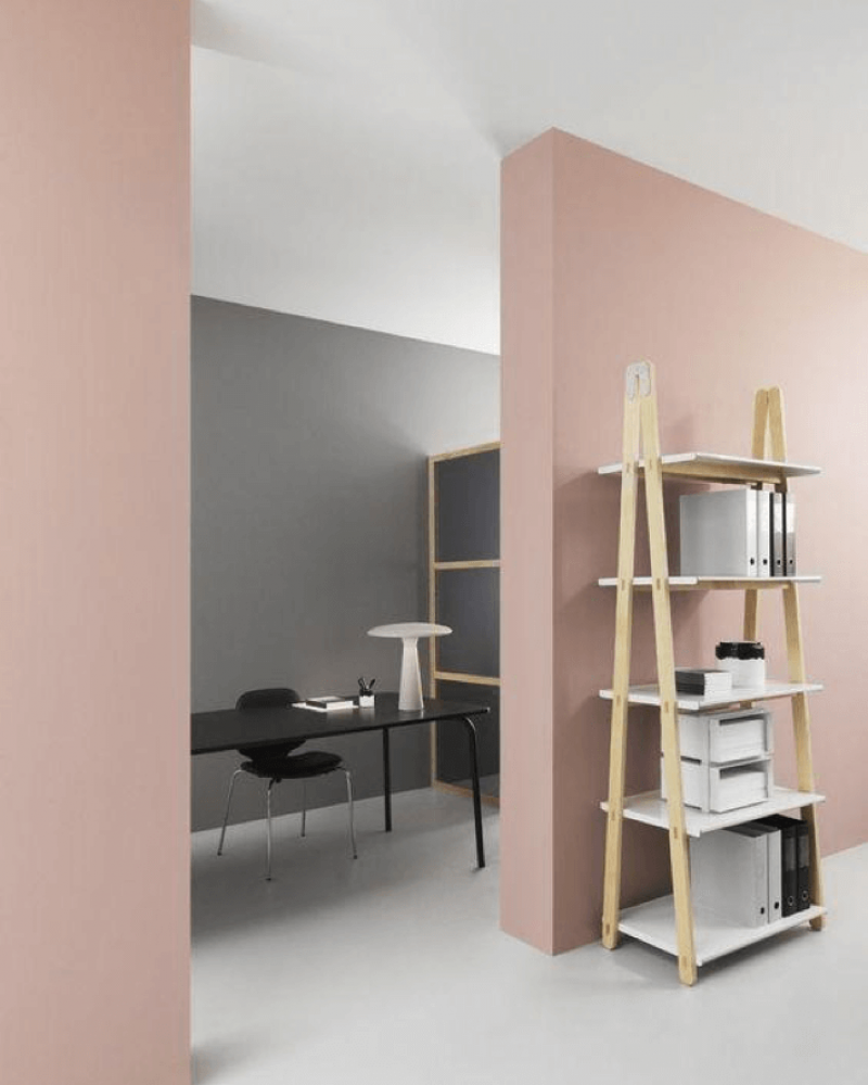 Pastel room divider to home office - Scandinavian Interiors