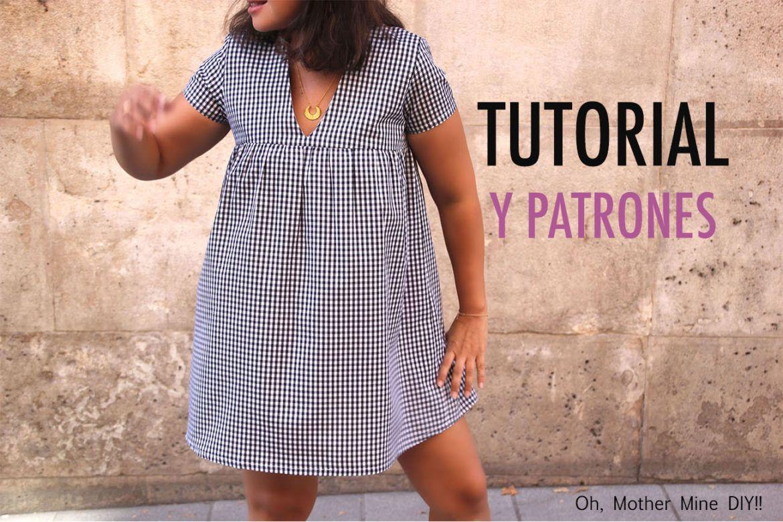 DIY Costura  vestido de cuadros vichy (patrones gratis ... acf6866a327