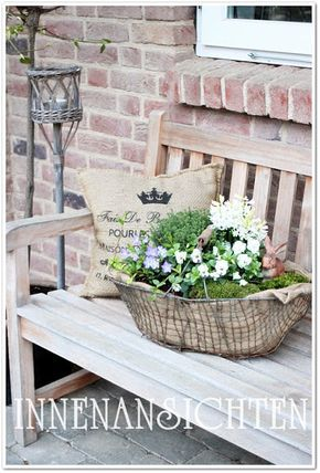 sweet gardening im freien b nke garten deko. Black Bedroom Furniture Sets. Home Design Ideas