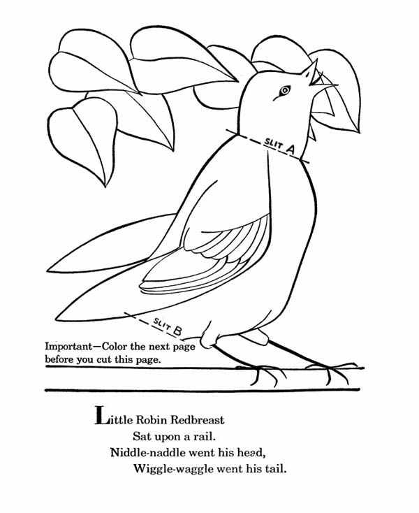 Little Robin Redbreast Coloring Page Download Print Online Coloring Pages For Free Color Nimbus Online Coloring Pages Coloring Pages Bird Coloring Pages