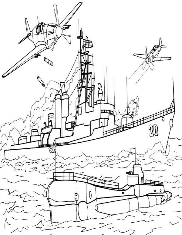 Boats Coloring Pages 3 Raskraski Lodka Podvodnye Lodki