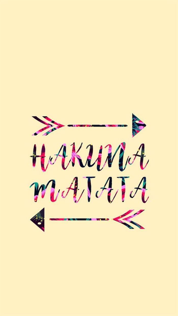 Hakuna Matata Floral Cute Wallpapers For Girls Yellow Background In 2020 Cute Backgrounds Cute Backgrounds For Phones Wallpaper Iphone Cute