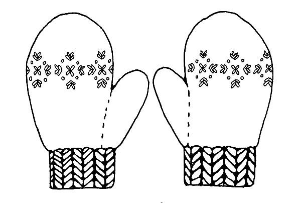Mittens, : Mittens Keep Your Hand Warm Coloring Pages | Footwear ...