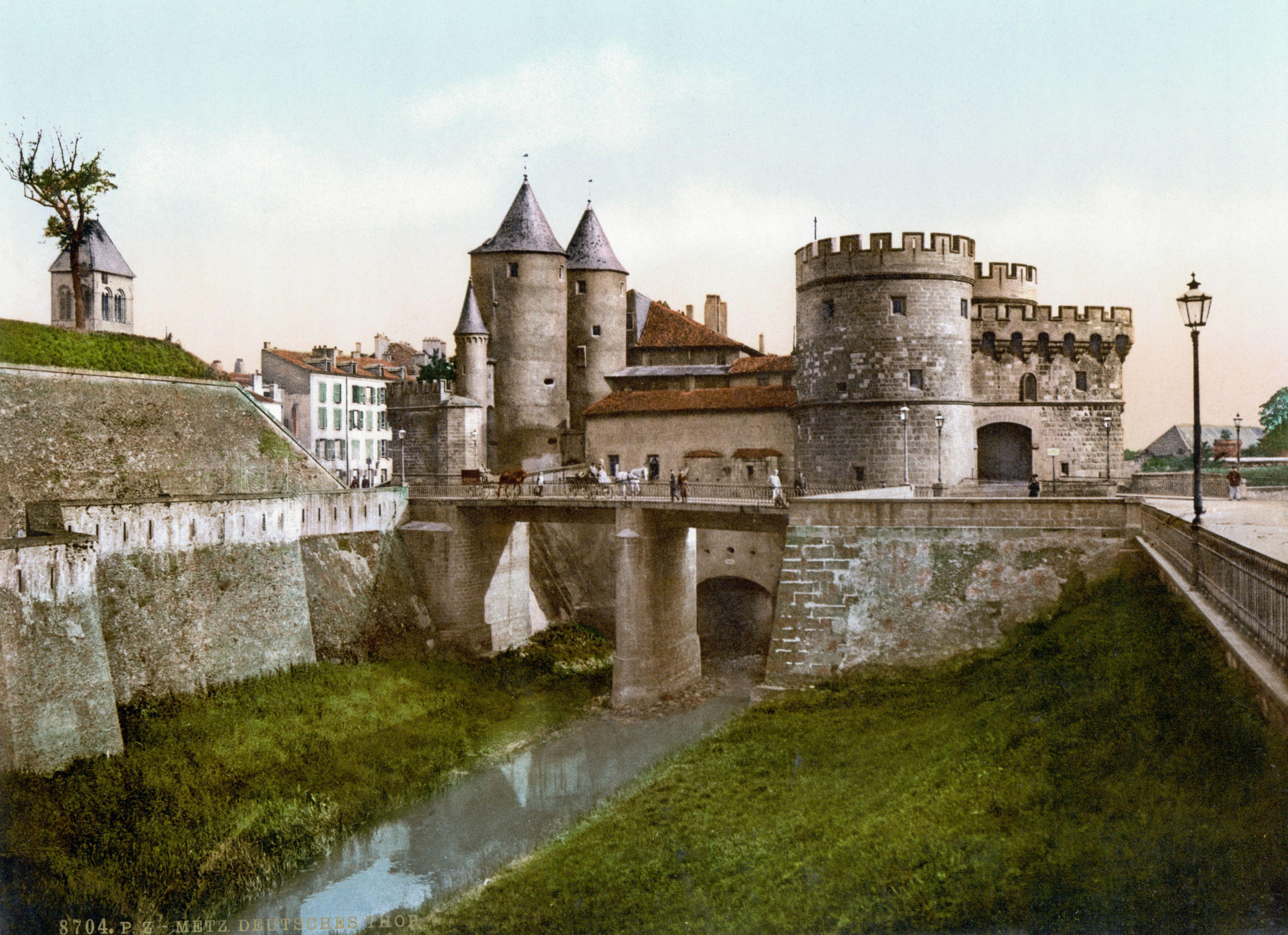 Metz Porte Des Allemands Carte Postale Ancienne