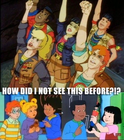 grand unified field theory of '90s era cartoons. from the school bus to planeteers.